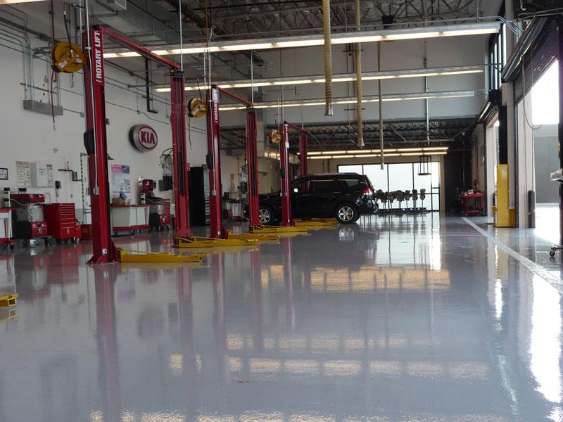 Commercial Epoxy Flooring Team Epoxy - Mechanic shop flooring